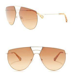 CHLOE Negative Space Oversize Aviator Sunglasses